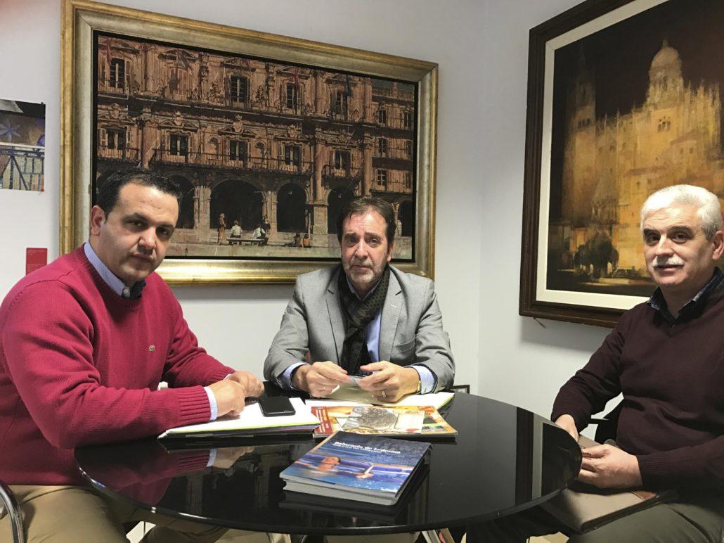 El Montepío se reúne con la Diputación de Salamanca para relanzar la promoción turística del Balneario de Ledesma en la provincia