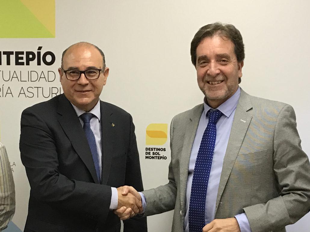 Firma entre los dos presidentes del nuevo convenio: Consejo de España de C.O. de Ingenieros T. de Minas