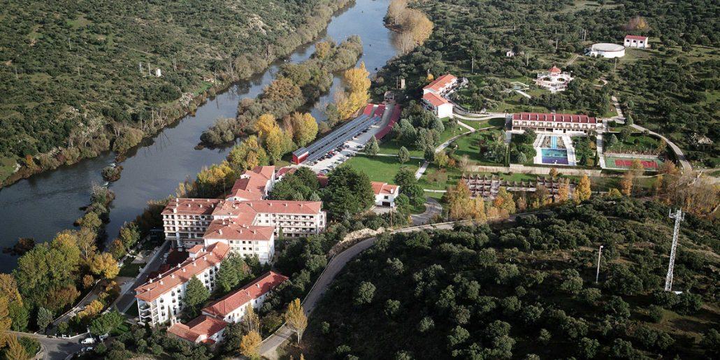 Foto aérea del Balneario de Ledesma